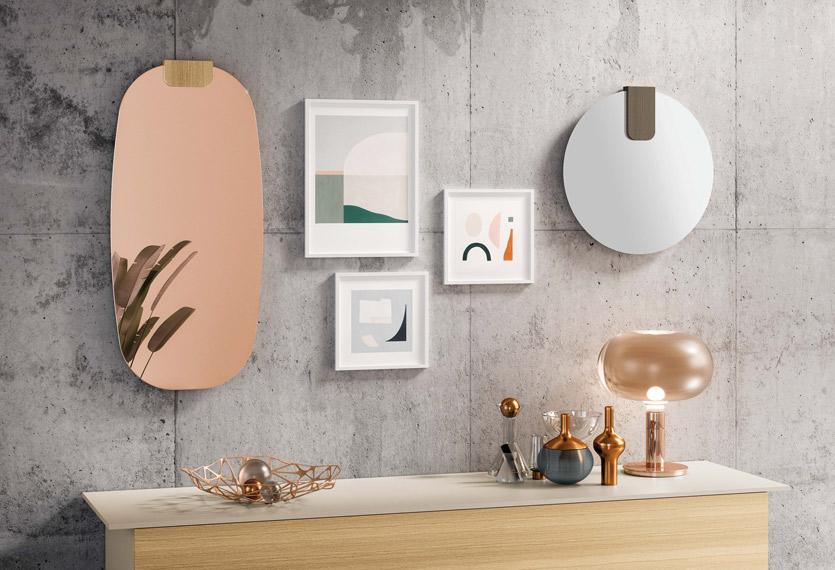 Spiegels Clip, verschillende afmetingen en kleur spiegel